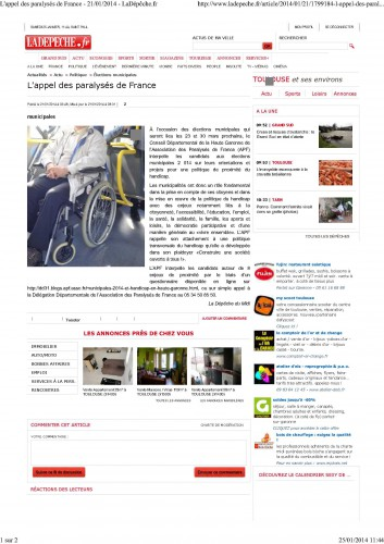 LaDepeche.fr_140121_L'appel des paralysés de France_municipales et handicap_1.jpg
